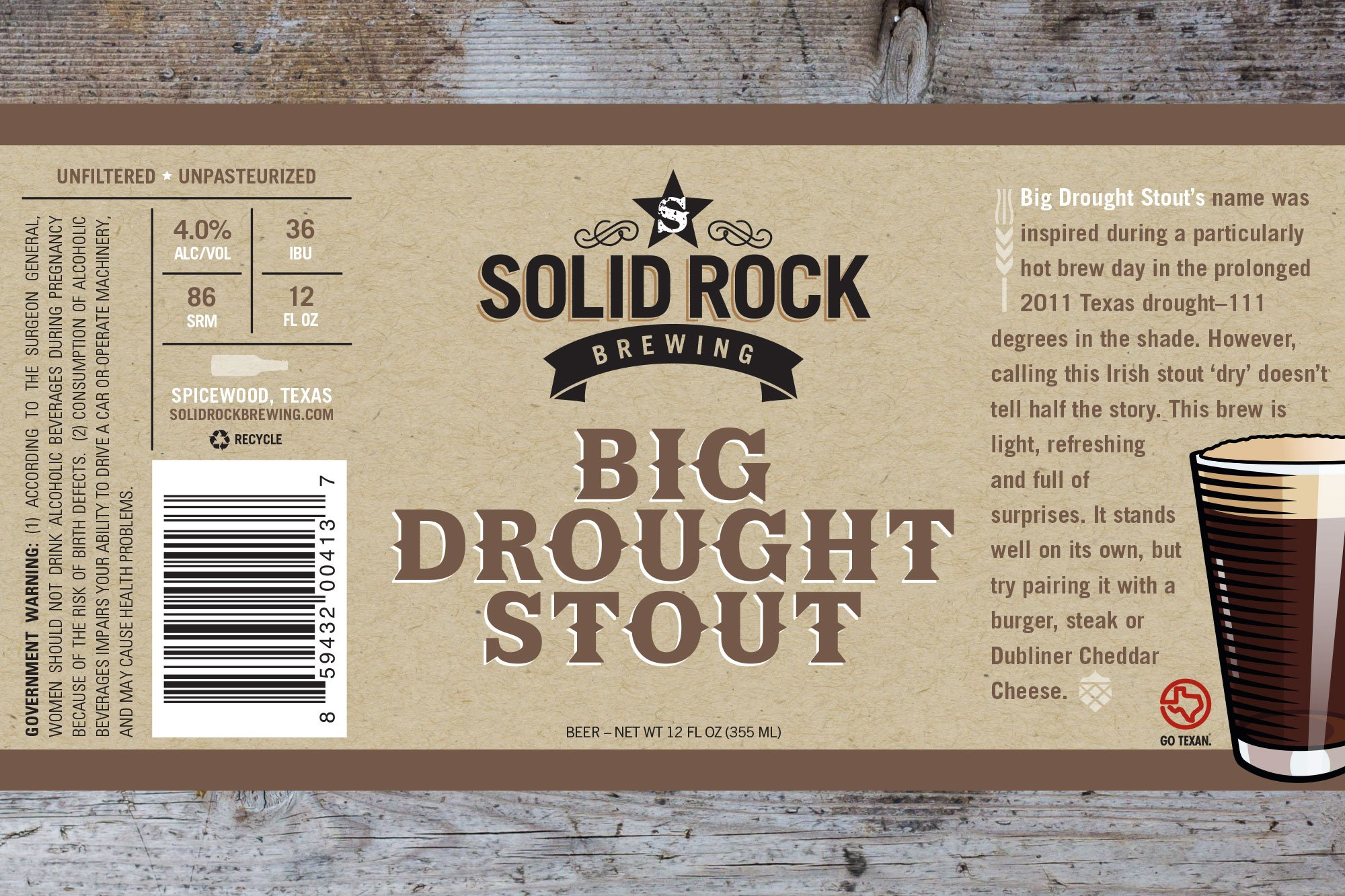 Stout beer label
