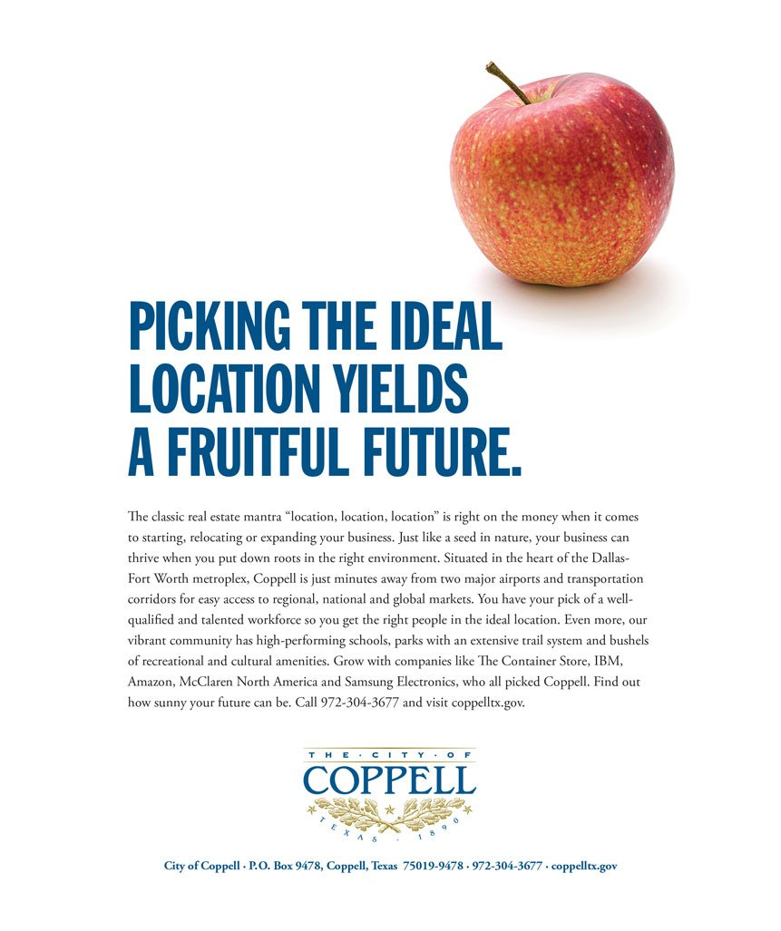 To encourage businesses to locate in Coppell
